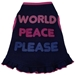 World Peace Please Dog Dress - iss-peaceX-UXH
