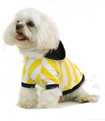Yikes Stripes Dog Hoodie - Yellow