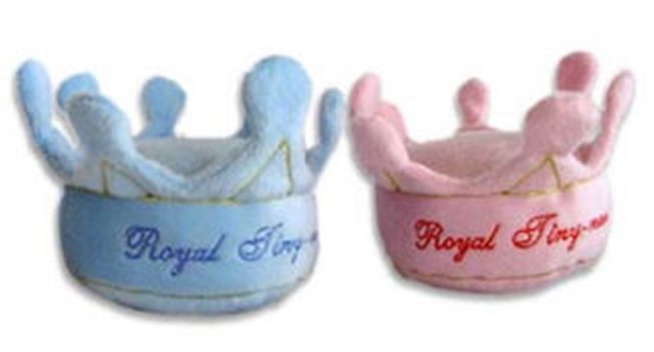 Your Royal Tiny-ness Crown Plush  Toy in Blue