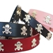 Skull Full Grain Leather Collar & Lead in many Colors - dog-skull
