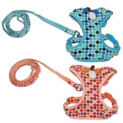ActiveGo Polka Dot Harness & Lead