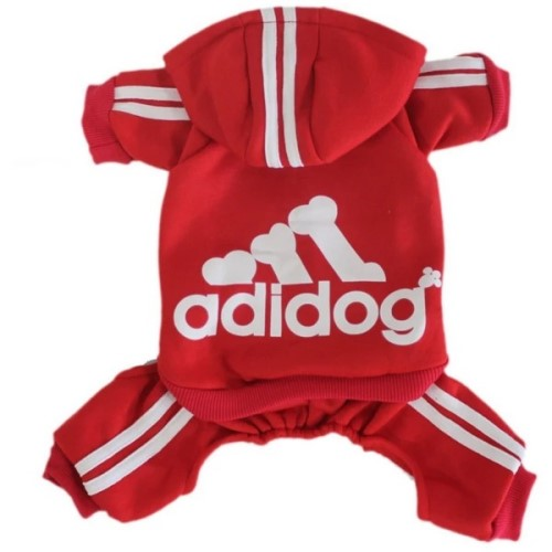 Adidog Logo Jumpsuit in 2 Colors Roxy & Lulu, wooflink, susan lanci, dog clothes, small dog clothes, urban pup, pooch outfitters, dogo, hip doggie, doggie design, small dog dress, pet clotes, dog boutique. pet boutique, bloomingtails dog boutique, dog raincoat, dog rain coat, pet raincoat, dog shampoo, pet shampoo, dog bathrobe, pet bathrobe, dog carrier, small dog carrier, doggie couture, pet couture, dog football, dog toys, pet toys, dog clothes sale, pet clothes sale, shop local, pet store, dog store, dog chews, pet chews, worthy dog, dog bandana, pet bandana, dog halloween, pet halloween, dog holiday, pet holiday, dog teepee, custom dog clothes, pet pjs, dog pjs, pet pajamas, dog pajamas,dog sweater, pet sweater, dog hat, fabdog, fab dog, dog puffer coat, dog winter ja
