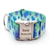 Personalized April Blossoms Polyester Collar & Lead-Blue - fdc-appleblossoms