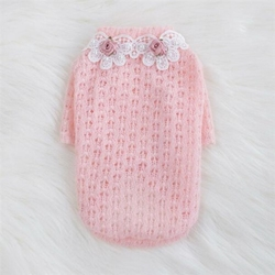 Baby Rose Sweater by Hello Doggie Roxy & Lulu, wooflink, susan lanci, dog clothes, small dog clothes, urban pup, pooch outfitters, dogo, hip doggie, doggie design, small dog dress, pet clotes, dog boutique. pet boutique, bloomingtails dog boutique, dog raincoat, dog rain coat, pet raincoat, dog shampoo, pet shampoo, dog bathrobe, pet bathrobe, dog carrier, small dog carrier, doggie couture, pet couture, dog football, dog toys, pet toys, dog clothes sale, pet clothes sale, shop local, pet store, dog store, dog chews, pet chews, worthy dog, dog bandana, pet bandana, dog halloween, pet halloween, dog holiday, pet holiday, dog teepee, custom dog clothes, pet pjs, dog pjs, pet pajamas, dog pajamas,dog sweater, pet sweater, dog hat, fabdog, fab dog, dog puffer coat, dog winter ja