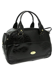 Black Croc Dog Carrier