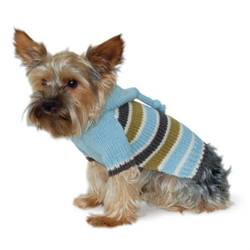 Striped Hoodie Sweater in Blue - dogo-striped-sweater