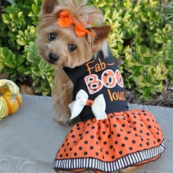 Halloween Fab-BOO-Lous Harness Dress wooflink, susan lanci, dog clothes, small dog clothes, urban pup, pooch outfitters, dogo, hip doggie, doggie design, small dog dress, pet clotes, dog boutique. pet boutique, bloomingtails dog boutique, dog raincoat, dog rain coat, pet raincoat, dog shampoo, pet shampoo, dog bathrobe, pet bathrobe, dog carrier, small dog carrier, doggie couture, pet couture, dog football, dog toys, pet toys, dog clothes sale, pet clothes sale, shop local, pet store, dog store, dog chews, pet chews, worthy dog, dog bandana, pet bandana, dog halloween, pet halloween, dog holiday, pet holiday, dog teepee, custom dog clothes, pet pjs, dog pjs, pet pajamas, dog pajamas,dog sweater, pet sweater, dog hat, fabdog, fab dog, dog puffer coat, dog winter jacket, dog col
