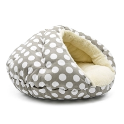 Burger Bed in Gray Polka Dots  dog bowls,susan lanci, puppia,wooflink, luxury dog boutique,tonimari,pet clothes, dog clothes, puppy clothes, pet store, dog store, puppy boutique store, dog boutique, pet boutique, puppy boutique, Bloomingtails, dog, small dog clothes, large dog clothes, large dog costumes, small dog costumes, pet stuff, Halloween dog, puppy Halloween, pet Halloween, clothes, dog puppy Halloween, dog sale, pet sale, puppy sale, pet dog tank, pet tank, pet shirt, dog shirt, puppy shirt,puppy tank, I see spot, dog collars, dog leads, pet collar, pet lead,puppy collar, puppy lead, dog toys, pet toys, puppy toy, dog beds, pet beds, puppy bed,  beds,dog mat, pet mat, puppy mat, fab dog pet sweater, dog sweater, dog winter, pet winter,dog raincoat, pet raincoat