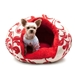 Burger Bed in Red Floral - dgo-burgred