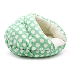 Burger Bed in Mint Polka Dots  dog bowls,susan lanci, puppia,wooflink, luxury dog boutique,tonimari,pet clothes, dog clothes, puppy clothes, pet store, dog store, puppy boutique store, dog boutique, pet boutique, puppy boutique, Bloomingtails, dog, small dog clothes, large dog clothes, large dog costumes, small dog costumes, pet stuff, Halloween dog, puppy Halloween, pet Halloween, clothes, dog puppy Halloween, dog sale, pet sale, puppy sale, pet dog tank, pet tank, pet shirt, dog shirt, puppy shirt,puppy tank, I see spot, dog collars, dog leads, pet collar, pet lead,puppy collar, puppy lead, dog toys, pet toys, puppy toy, dog beds, pet beds, puppy bed,  beds,dog mat, pet mat, puppy mat, fab dog pet sweater, dog sweater, dog winter, pet winter,dog raincoat, pet raincoat