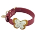 Butterfly Collar & Lead Collection-Red - dos-butterred