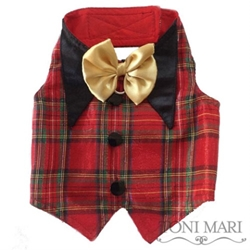 Christmas Plaid Tuxedo Vest  dog bowls,susan lanci, puppia,wooflink, luxury dog boutique,tonimari,pet clothes, dog clothes, puppy clothes, pet store, dog store, puppy boutique store, dog boutique, pet boutique, puppy boutique, Bloomingtails, dog, small dog clothes, large dog clothes, large dog costumes, small dog costumes, pet stuff, Halloween dog, puppy Halloween, pet Halloween, clothes, dog puppy Halloween, dog sale, pet sale, puppy sale, pet dog tank, pet tank, pet shirt, dog shirt, puppy shirt,puppy tank, I see spot, dog collars, dog leads, pet collar, pet lead,puppy collar, puppy lead, dog toys, pet toys, puppy toy, dog beds, pet beds, puppy bed,  beds,dog mat, pet mat, puppy mat, fab dog pet sweater, dog sweater, dog winter, pet winter,dog raincoat, pet raincoat