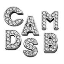 Clear Rhinestone Collar Slide Letters
