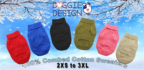 100% Pure Combed Cotton Dog Sweater Roxy & Lulu, wooflink, susan lanci, dog clothes, small dog clothes, urban pup, pooch outfitters, dogo, hip doggie, doggie design, small dog dress, pet clotes, dog boutique. pet boutique, bloomingtails dog boutique, dog raincoat, dog rain coat, pet raincoat, dog shampoo, pet shampoo, dog bathrobe, pet bathrobe, dog carrier, small dog carrier, doggie couture, pet couture, dog football, dog toys, pet toys, dog clothes sale, pet clothes sale, shop local, pet store, dog store, dog chews, pet chews, worthy dog, dog bandana, pet bandana, dog halloween, pet halloween, dog holiday, pet holiday, dog teepee, custom dog clothes, pet pjs, dog pjs, pet pajamas, dog pajamas,dog sweater, pet sweater, dog hat, fabdog, fab dog, dog puffer coat, dog winter ja