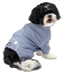 Thermal Dog Jammies in Pink or Blue