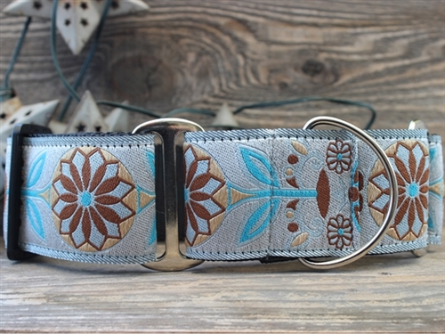 Extra Wide Boho Morocco Dog Collar-Personalizable - diva-boholarge
