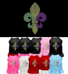 Mardi Gras Fleur De Lis Rhinestone Dress puppia,wooflink, luxury dog boutique,tonimari,pet clothes, dog clothes, puppy clothes, pet store, dog store, puppy boutique store, dog boutique, pet boutique, puppy boutique, Bloomingtails, dog, small dog clothes, large dog clothes, large dog costumes, small dog costumes, pet stuff, Halloween dog, puppy Halloween, pet Halloween, clothes, dog puppy Halloween, dog sale, pet sale, puppy sale, pet dog tank, pet tank, pet shirt, dog shirt, puppy shirt,puppy tank, I see spot, dog collars, dog leads, pet collar, pet lead,puppy collar, puppy lead, dog toys, pet toys, puppy toy, dog beds, pet beds, puppy bed,  beds,dog mat, pet mat, puppy mat, fab dog pet sweater, dog sweater, dog winter, pet winter,dog raincoat, pet raincoat, dog harness, puppy har