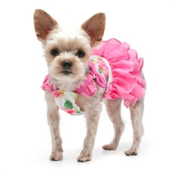 Floral Flounce Dress  dog bowls,susan lanci, puppia,wooflink, luxury dog boutique,tonimari,pet clothes, dog clothes, puppy clothes, pet store, dog store, puppy boutique store, dog boutique, pet boutique, puppy boutique, Bloomingtails, dog, small dog clothes, large dog clothes, large dog costumes, small dog costumes, pet stuff, Halloween dog, puppy Halloween, pet Halloween, clothes, dog puppy Halloween, dog sale, pet sale, puppy sale, pet dog tank, pet tank, pet shirt, dog shirt, puppy shirt,puppy tank, I see spot, dog collars, dog leads, pet collar, pet lead,puppy collar, puppy lead, dog toys, pet toys, puppy toy, dog beds, pet beds, puppy bed,  beds,dog mat, pet mat, puppy mat, fab dog pet sweater, dog sweater, dog winter, pet winter,dog raincoat, pet raincoat