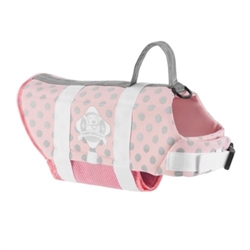 Doggy Life Jacket in Pink & Silver dog bowls,susan lanci, puppia,wooflink, luxury dog boutique,tonimari,pet clothes, dog clothes, puppy clothes, pet store, dog store, puppy boutique store, dog boutique, pet boutique, puppy boutique, Bloomingtails, dog, small dog clothes, large dog clothes, large dog costumes, small dog costumes, pet stuff, Halloween dog, puppy Halloween, pet Halloween, clothes, dog puppy Halloween, dog sale, pet sale, puppy sale, pet dog tank, pet tank, pet shirt, dog shirt, puppy shirt,puppy tank, I see spot, dog collars, dog leads, pet collar, pet lead,puppy collar, puppy lead, dog toys, pet toys, puppy toy, dog beds, pet beds, puppy bed,  beds,dog mat, pet mat, puppy mat, fab dog pet sweater, dog sweater, dog winter, pet winter,dog raincoat, pet raincoat,