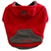 Foular Fleece Dog Hoodie in Red or Fuchsia - ffd-foularfleeceF-84R