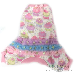 Frosted Cupcakes Dog Pajamas dog bowls,susan lanci, puppia,wooflink, luxury dog boutique,tonimari,pet clothes, dog clothes, puppy clothes, pet store, dog store, puppy boutique store, dog boutique, pet boutique, puppy boutique, Bloomingtails, dog, small dog clothes, large dog clothes, large dog costumes, small dog costumes, pet stuff, Halloween dog, puppy Halloween, pet Halloween, clothes, dog puppy Halloween, dog sale, pet sale, puppy sale, pet dog tank, pet tank, pet shirt, dog shirt, puppy shirt,puppy tank, I see spot, dog collars, dog leads, pet collar, pet lead,puppy collar, puppy lead, dog toys, pet toys, puppy toy, dog beds, pet beds, puppy bed,  beds,dog mat, pet mat, puppy mat, fab dog pet sweater, dog sweater, dog winter, pet winter,dog raincoat, pet raincoat,