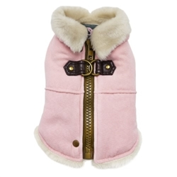 Furry Runner Coat in Pink wooflink, susan lanci, dog clothes, small dog clothes, urban pup, pooch outfitters, dogo, hip doggie, doggie design, small dog dress, pet clotes, dog boutique. pet boutique, bloomingtails dog boutique, dog raincoat, dog rain coat, pet raincoat, dog shampoo, pet shampoo, dog bathrobe, pet bathrobe, dog carrier, small dog carrier, doggie couture, pet couture, dog football, dog toys, pet toys, dog clothes sale, pet clothes sale, shop local, pet store, dog store, dog chews, pet chews, worthy dog, dog bandana, pet bandana, dog halloween, pet halloween, dog holiday, pet holiday, dog teepee, custom dog clothes, pet pjs, dog pjs, pet pajamas, dog pajamas,dog sweater, pet sweater, dog hat, fabdog, fab dog, dog puffer coat, dog winter jacket, dog col