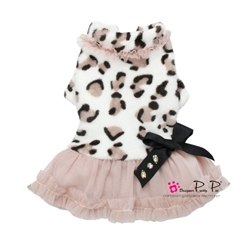 Fleece Leopard Dress wooflink, susan lanci, dog clothes, small dog clothes, urban pup, pooch outfitters, dogo, hip doggie, doggie design, small dog dress, pet clotes, dog boutique. pet boutique, bloomingtails dog boutique, dog raincoat, dog rain coat, pet raincoat, dog shampoo, pet shampoo, dog bathrobe, pet bathrobe, dog carrier, small dog carrier, doggie couture, pet couture, dog football, dog toys, pet toys, dog clothes sale, pet clothes sale, shop local, pet store, dog store, dog chews, pet chews, worthy dog, dog bandana, pet bandana, dog halloween, pet halloween, dog holiday, pet holiday, dog teepee, custom dog clothes, pet pjs, dog pjs, pet pajamas, dog pajamas,dog sweater, pet sweater, dog hat, fabdog, fab dog, dog puffer coat, dog winter jacket, dog col