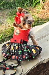Gingerbread Christmas Harness Dress and Lead beds, puppy bed,  beds,dog mat, pet mat, puppy mat, fab dog pet sweater, dog swepet clothes, dog clothes, puppy clothes, pet store, dog store, puppy boutique store, dog boutique, pet boutique, puppy boutique, Bloomingtails, dog, small dog clothes, large dog clothes, large dog costumes, small dog costumes, pet stuff, Halloween dog, puppy Halloween, pet Halloween, clothes, dog puppy Halloween, dog sale, pet sale, puppy sale, pet dog tank, pet tank, pet shirt, dog shirt, puppy shirt,puppy tank, I see spot, dog collars, dog leads, pet collar, pet lead,puppy collar, puppy lead, dog toys, pet toys, puppy toy, dog beds, pet beds, puppy bed,  beds,dog mat, pet mat, puppy mat, fab dog pet sweater, dog sweater, dog winter, pet winter,dog raincoat, pe