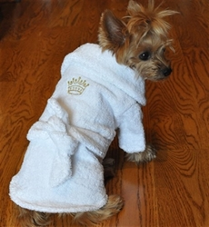 White Gold Crown Dog Bathrobe pet clothes, dog clothes, puppy clothes, pet store, dog store, puppy boutique store, dog boutique, pet boutique, puppy boutique, Bloomingtails, dog, small dog clothes, large dog clothes, large dog costumes, small dog costumes, pet stuff, Halloween dog, puppy Halloween, pet Halloween, clothes, dog puppy Halloween, dog sale, pet sale, puppy sale, pet dog tank, pet tank, pet shirt, dog shirt, puppy shirt,puppy tank, I see spot, dog collars, dog leads, pet collar, pet lead,puppy collar, puppy lead, dog toys, pet toys, puppy toy, dog beds, pet beds, puppy bed,  beds,dog mat, pet mat, puppy mat, fab dog pet sweater, dog sweater, dog winter, pet winter,dog raincoat, pet raincoat, dog harness, puppy harness, pet harness, dog collar, dog lead, pet l