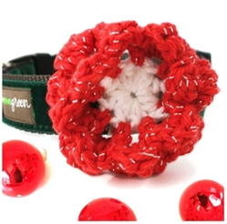 Holiday Tinsel Flower Collar