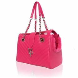 Vanderpump Hot Pink Chain Monogramme Carrier