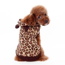 Leopard Hoodie Sweater Roxy & Lulu, wooflink, susan lanci, dog clothes, small dog clothes, urban pup, pooch outfitters, dogo, hip doggie, doggie design, small dog dress, pet clotes, dog boutique. pet boutique, bloomingtails dog boutique, dog raincoat, dog rain coat, pet raincoat, dog shampoo, pet shampoo, dog bathrobe, pet bathrobe, dog carrier, small dog carrier, doggie couture, pet couture, dog football, dog toys, pet toys, dog clothes sale, pet clothes sale, shop local, pet store, dog store, dog chews, pet chews, worthy dog, dog bandana, pet bandana, dog halloween, pet halloween, dog holiday, pet holiday, dog teepee, custom dog clothes, pet pjs, dog pjs, pet pajamas, dog pajamas,dog sweater, pet sweater, dog hat, fabdog, fab dog, dog puffer coat, dog winter ja