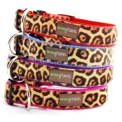 Velvet Leopard Collars & Leads-Many Colors