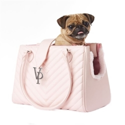 Vanderpump Light Pink Monogramme Carrier