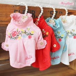 Luxury Embroidery Shirt wooflink, dog clothes, pet store, small dog clothes, dog boutique, pet shirt,