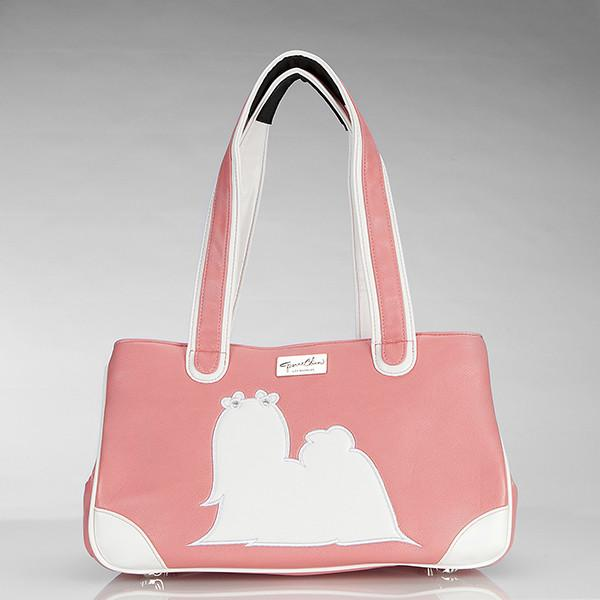 Majestic Maltese Rescue Me Dog Tote in Pink or Black wooflink, susan lanci, dog clothes, small dog clothes, urban pup, pooch outfitters, dogo, hip doggie, doggie design, small dog dress, pet clotes, dog boutique. pet boutique, bloomingtails dog boutique, dog raincoat, dog rain coat, pet raincoat, dog shampoo, pet shampoo, dog bathrobe, pet bathrobe, dog carrier, small dog carrier, doggie couture, pet couture, dog football, dog toys, pet toys, dog clothes sale, pet clothes sale, shop local, pet store, dog store, dog chews, pet chews, worthy dog, dog bandana, pet bandana, dog halloween, pet halloween, dog holiday, pet holiday, dog teepee, custom dog clothes, pet pjs, dog pjs, pet pajamas, dog pajamas,dog sweater, pet sweater, dog hat, fabdog, fab dog, dog puffer coat, dog winter jacket, dog col