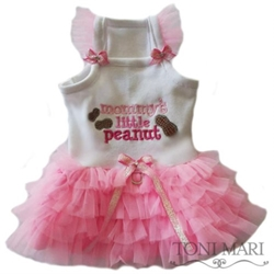 Mommy Little Peanut Tutu Dress wooflink, susan lanci, dog clothes, small dog clothes, urban pup, pooch outfitters, dogo, hip doggie, doggie design, small dog dress, pet clotes, dog boutique. pet boutique, bloomingtails dog boutique, dog raincoat, dog rain coat, pet raincoat, dog shampoo, pet shampoo, dog bathrobe, pet bathrobe, dog carrier, small dog carrier, doggie couture, pet couture, dog football, dog toys, pet toys, dog clothes sale, pet clothes sale, shop local, pet store, dog store, dog chews, pet chews, worthy dog, dog bandana, pet bandana, dog halloween, pet halloween, dog holiday, pet holiday, dog teepee, custom dog clothes, pet pjs, dog pjs, pet pajamas, dog pajamas,dog sweater, pet sweater, dog hat, fabdog, fab dog, dog puffer coat, dog winter jacket, dog col