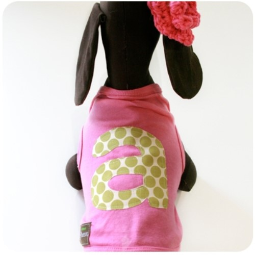 Monogram Dog Shirts in Pink or Gray  dog bowls,susan lanci, puppia,wooflink, luxury dog boutique,tonimari,pet clothes, dog clothes, puppy clothes, pet store, dog store, puppy boutique store, dog boutique, pet boutique, puppy boutique, Bloomingtails, dog, small dog clothes, large dog clothes, large dog costumes, small dog costumes, pet stuff, Halloween dog, puppy Halloween, pet Halloween, clothes, dog puppy Halloween, dog sale, pet sale, puppy sale, pet dog tank, pet tank, pet shirt, dog shirt, puppy shirt,puppy tank, I see spot, dog collars, dog leads, pet collar, pet lead,puppy collar, puppy lead, dog toys, pet toys, puppy toy, dog beds, pet beds, puppy bed,  beds,dog mat, pet mat, puppy mat, fab dog pet sweater, dog sweater, dog winter, pet winter,dog raincoat, pet raincoat
