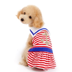 Nautical Stripe Dog Dress wooflink, susan lanci, dog clothes, small dog clothes, urban pup, pooch outfitters, dogo, hip doggie, doggie design, small dog dress, pet clotes, dog boutique. pet boutique, bloomingtails dog boutique, dog raincoat, dog rain coat, pet raincoat, dog shampoo, pet shampoo, dog bathrobe, pet bathrobe, dog carrier, small dog carrier, doggie couture, pet couture, dog football, dog toys, pet toys, dog clothes sale, pet clothes sale, shop local, pet store, dog store, dog chews, pet chews, worthy dog, dog bandana, pet bandana, dog halloween, pet halloween, dog holiday, pet holiday, dog teepee, custom dog clothes, pet pjs, dog pjs, pet pajamas, dog pajamas,dog sweater, pet sweater, dog hat, fabdog, fab dog, dog puffer coat, dog winter jacket, dog col