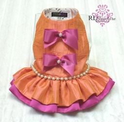 Orange Sorbet Couture Harness Dress Roxy & Lulu, wooflink, susan lanci, dog clothes, small dog clothes, urban pup, pooch outfitters, dogo, hip doggie, doggie design, small dog dress, pet clotes, dog boutique. pet boutique, bloomingtails dog boutique, dog raincoat, dog rain coat, pet raincoat, dog shampoo, pet shampoo, dog bathrobe, pet bathrobe, dog carrier, small dog carrier, doggie couture, pet couture, dog football, dog toys, pet toys, dog clothes sale, pet clothes sale, shop local, pet store, dog store, dog chews, pet chews, worthy dog, dog bandana, pet bandana, dog halloween, pet halloween, dog holiday, pet holiday, dog teepee, custom dog clothes, pet pjs, dog pjs, pet pajamas, dog pajamas,dog sweater, pet sweater, dog hat, fabdog, fab dog, dog puffer coat, dog winter ja