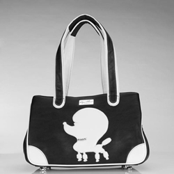 Pampered Poodle Rescue Me Faux Leather Tote in Pink or Black
