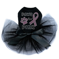 Paws for Pink Dog Tutu in 3 Colors-Breast Cancer Awareness wooflink, susan lanci, dog clothes, small dog clothes, urban pup, pooch outfitters, dogo, hip doggie, doggie design, small dog dress, pet clotes, dog boutique. pet boutique, bloomingtails dog boutique, dog raincoat, dog rain coat, pet raincoat, dog shampoo, pet shampoo, dog bathrobe, pet bathrobe, dog carrier, small dog carrier, doggie couture, pet couture, dog football, dog toys, pet toys, dog clothes sale, pet clothes sale, shop local, pet store, dog store, dog chews, pet chews, worthy dog, dog bandana, pet bandana, dog halloween, pet halloween, dog holiday, pet holiday, dog teepee, custom dog clothes, pet pjs, dog pjs, pet pajamas, dog pajamas,dog sweater, pet sweater, dog hat, fabdog, fab dog, dog puffer coat, dog winter jacket, dog col