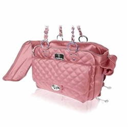 Vanderpump Pink Quilted Chain Carrier
