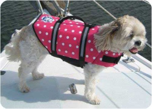 Pink Polka Dot Dog Life Jacket