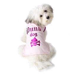 Punk Dog Tee in Blue & Pink