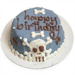 Punk Skull Personalized Dog Birthday Cake