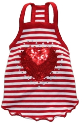 Red Heart Dog Tank