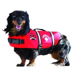 Red Neoprene Dog Life Jacket