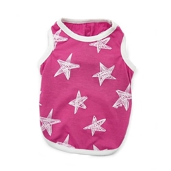 Starry Night Dog Tank in Blue or Pink
