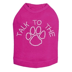 Talk To The Paw Tee in Many Colors Roxy & Lulu, wooflink, susan lanci, dog clothes, small dog clothes, urban pup, pooch outfitters, dogo, hip doggie, doggie design, small dog dress, pet clotes, dog boutique. pet boutique, bloomingtails dog boutique, dog raincoat, dog rain coat, pet raincoat, dog shampoo, pet shampoo, dog bathrobe, pet bathrobe, dog carrier, small dog carrier, doggie couture, pet couture, dog football, dog toys, pet toys, dog clothes sale, pet clothes sale, shop local, pet store, dog store, dog chews, pet chews, worthy dog, dog bandana, pet bandana, dog halloween, pet halloween, dog holiday, pet holiday, dog teepee, custom dog clothes, pet pjs, dog pjs, pet pajamas, dog pajamas,dog sweater, pet sweater, dog hat, fabdog, fab dog, dog puffer coat, dog winter ja